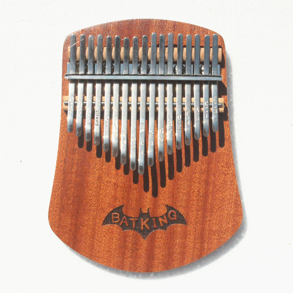 best selling 17 Keys Kalimba Thumb Piano Solid Sapele Body With Learning Book,Tune Hammer,Cloth Bag,Sticker,Bilingual Instruction