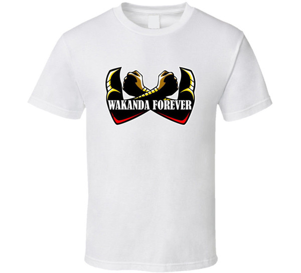 cde66096e9 Wakanda Para Sempre Pantera Negra camiseta King T Challa Filme Marvel  Muitas Cores de Manga