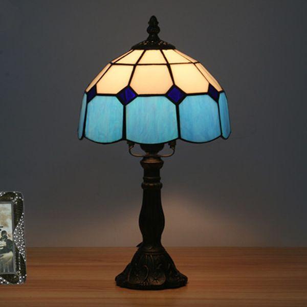 8 Pouces Méditerranéenne Américaine Simple Chambre Lampe De Chevet Salle De Mariage Salle D'étude Bar Restaurant Européenne Rétro De Mode Créative Lampe de Table