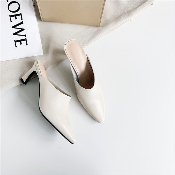 Nueva mujer zapatillas de verano zapatos para niñas de alta moda de diseño superior de la UE 34-39 zapatos causales mocasines del dedo del pie puntiagudo 19137