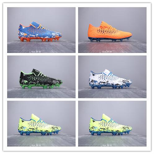 2020 Futuro Netfit Griezmann 19,1 FG Nail Botas De Fútbol De Los Hombres Que Hace Punto 1 Una Tacos De Fútbol Calzado Deportivo De Alta Calidad Azul