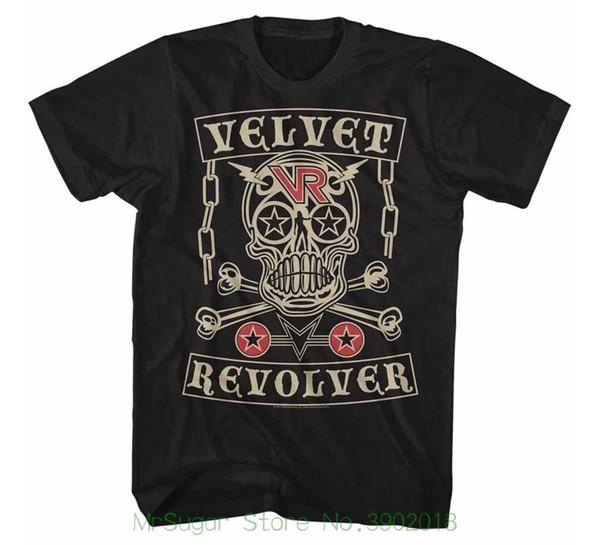 Бархат револьвер череп футболка уличная смешно печати одежда хип-топ Ман футболка топы тройники