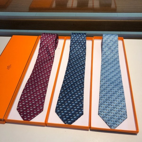 Laço casual Mens Moda Lazer tie Top gravata de seda sarja artesanal cheio de padrões individuais de animais