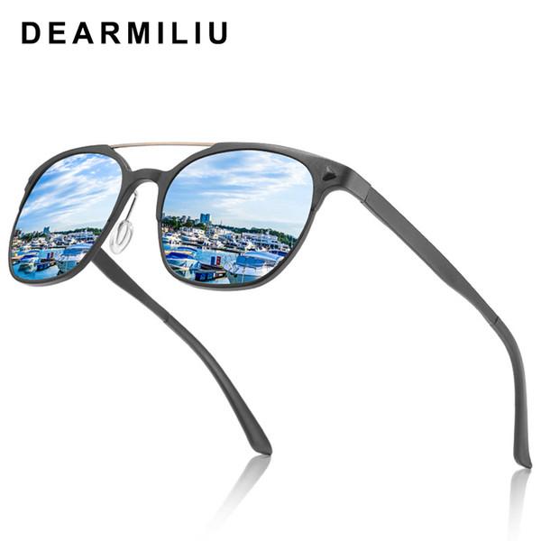 DEARMILIU BRAND 2019 DESIGN Classic Polarized Sunglasses Women Vintage Aluminium Magnesium Frame Driving Sunglasses Men UV400