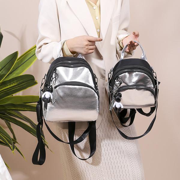 Wholesale-Silver Корейская дамы рюкзак женщины сумка из мягкой кожи Bagpack Путешествия Для ученической Сумки Sac mochilas Mujer 2019 нового горячий Sal