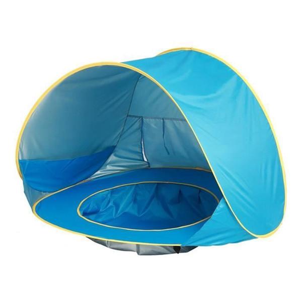 Çadır Plaj Karşıtı UV UPF 50+ Bebek Yüzme Havuzu Ayrılabilir Dip Su geçirmez kamp Koruma Barınağı
