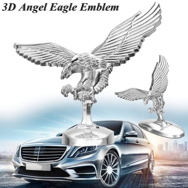 Emblème 3D ange aigle auto capot avant capot chromé badge ornement bonnet
