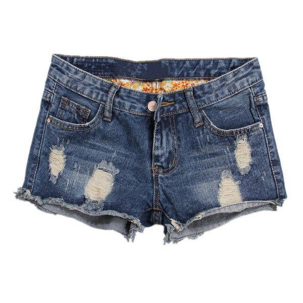 Summer New Large Size Short Jeans Women Broken Holes Cat Whisker High Waist Self-cultivation Rolled Edge Casual Shorts T1023 Q190509
