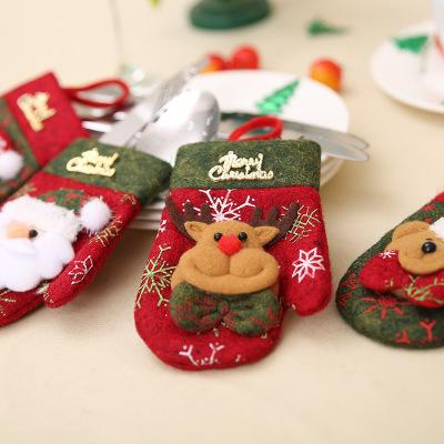 New Style Cute Christmas Stocking Snowman Elk Santa Claus Candy Gift Bags For Cutlery Bag Christmas Tree Hanging Ornament Home Decor M48Y