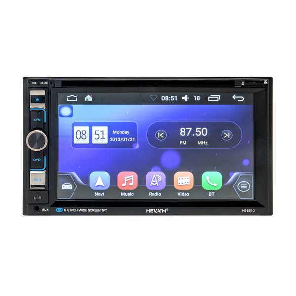 2 Din Radio In Dash Car Multimedia Player with 6.2'' Full-Touch Screen Car DVD CD Player Head Unit with HEVXM HE - 6610
