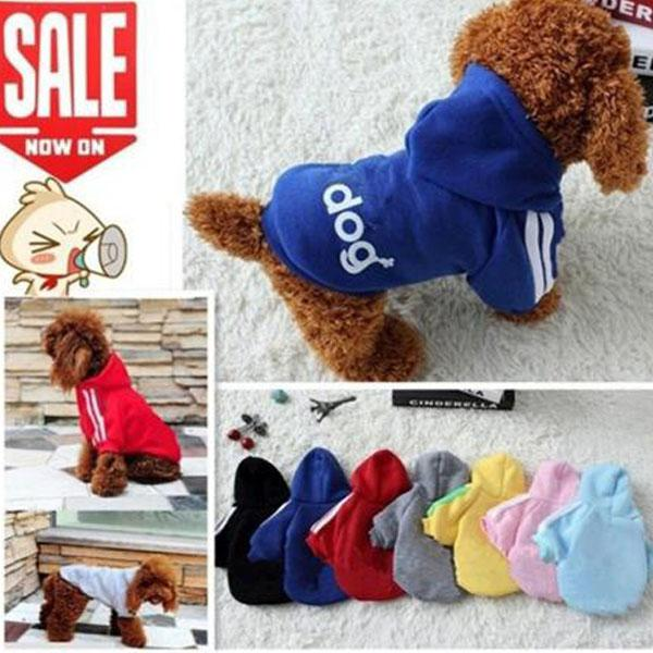 New Dog Hoodies Pet Clothes Winter Coat For Small Dogs Sweater shirt Warm Sweater Puppy Outfits Fashion Teddy Soft Hood Apparel