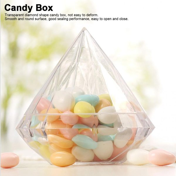 12pcs plastic candy shape round candy box wedding birthday party decorat t