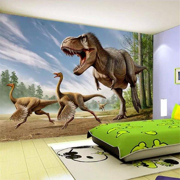beibehang papel de parede personalizado grande fresco 3d murais de fotos dinossauro TV parede de fundo pintura decorativa sala de estar 3d papel de parede