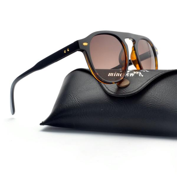 Vintage leoaprd Round Sunglasses Women Luxury Brand Patchwork Ladies Shades Candy Color Unique Gradient Sun Glasses Female FML