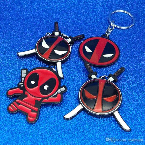 Super Hero X Man Deadpool Keychain Deadpool Mask Figure Keychain Key Rings Fashion Jewelry Will and Sandy Drop Ship 340068