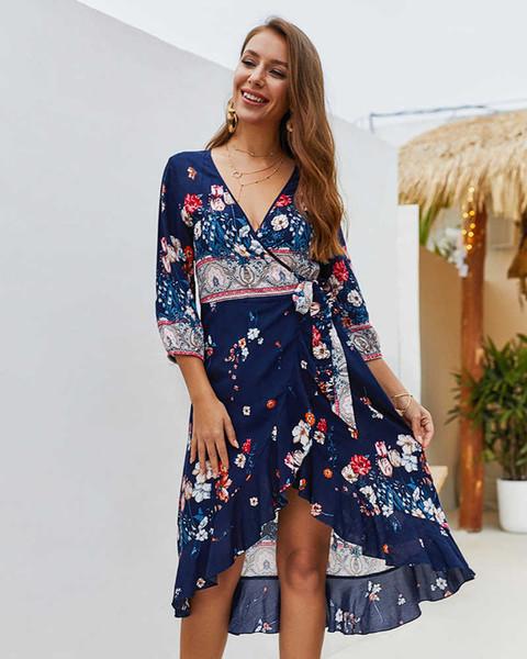 Mulheres Impresso Vestidos de Alta Qualidade Das Mulheres de Verão Casual Vestido de Férias New Arrival Mulheres Praia Vestidos Curtos Saias