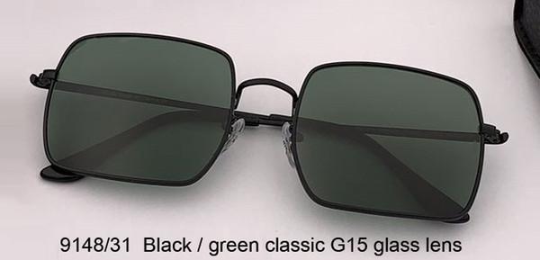 أسود / أخضر عدسة زجاج G15 الكلاسيكية