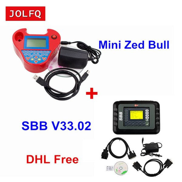 Full Set SBB Silca + Mini Zed Bull Key Programmer V33.02 SBB V508 Smart ZedBull Auto Key Pro Maker Transponder No Tokens DHLFree