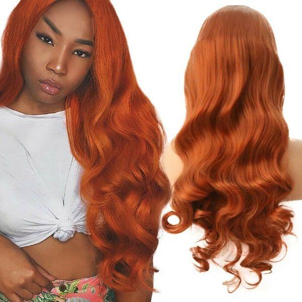 Kadınlar için peruk Dantel Ön Uzun Kıvırcık Dalgalı Peruk hakkında detaylar Kırmızı Sentetik Saç Cosplay Parti