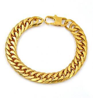 Gold Silver Plated Designer Jewelry Bracelets Stainless Steel Curb Cuban Chains Bracelets for Women Men Wholesale Free Shipping