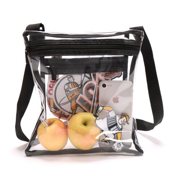 Очистить Crossbody кошелек сумка + патч для NFL стадион Утверждена Clear Tote плеча сумку. Стадион Одобрен для спортивных мероприятий, концертов