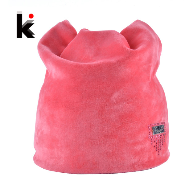2018 Winter Beanie Hat Ladies Cat Girls Hats For Women Beanies Fluff Caps Russia Skullies Touca Cap With Ear Flaps S18120302
