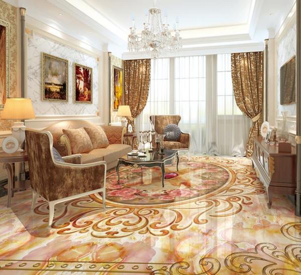 Custom 3d Flooring Euporean Pattern 3d Wallpaper Living Room Bedroom Floor Tiles Self Adhesive Pvc Floor Wallpaper Wallpaper Hd Wall Wallpaper Hd