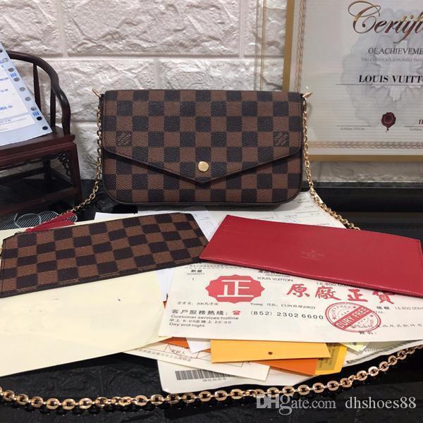 lujoclásica del diseñador de alta calidad de la cadena bolso de hombro del tirón Disco Bolsa 21cm 11cm 2cm señoras bolso de cuero bolsa de mensajero de las señoras de Sma
