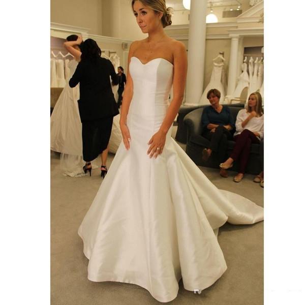 Изящные тафта Русалка Свадебные платья Милая Zipper назад Дешевые Свадебные платья плюс размер vestidos де Novia
