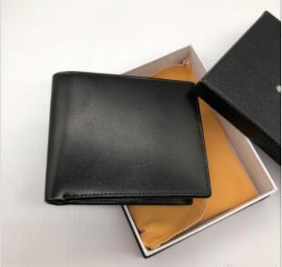 Classic luxury men's purse short clip MB artisan craft brand designer card case MT business card holder quality M B hot wallets