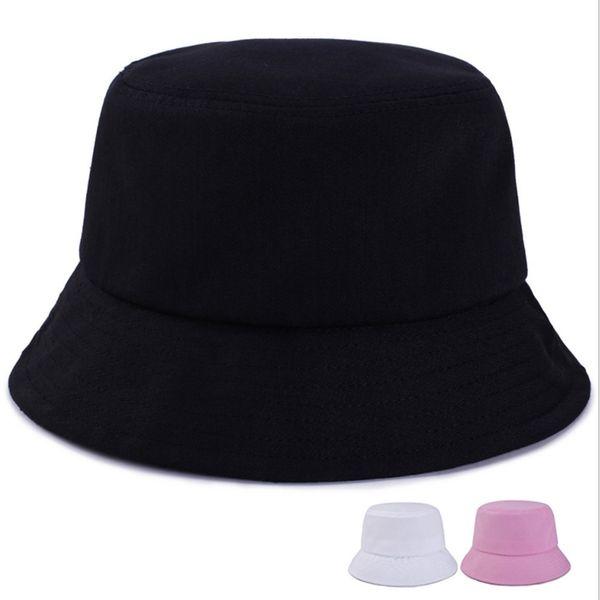 WZCX couleur unie Version coréenne Femmes bassin Cap Printemps Automne Casual Flat Top simple du pêcheur Chapeau de plage Chapeau