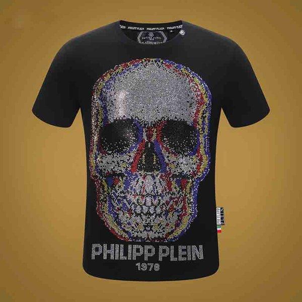 Yeni tasarımcı kaliteli pamuk yeni O-Boyun kısa kollu Tişört hayalet kafa marka erkek ve kadın T-shirt moda stil spor T-shirt 501
