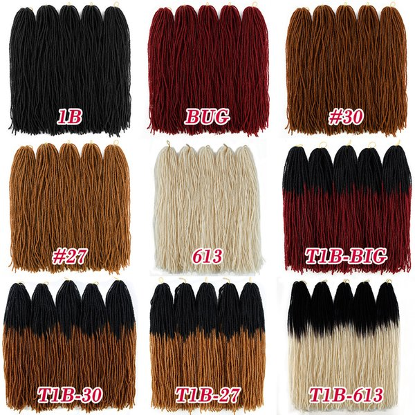 18inch Ombre Color Micro Dread locs Long Straight Braiding Hair 54 strands/pack Sister Locks Afro Crochet Braids