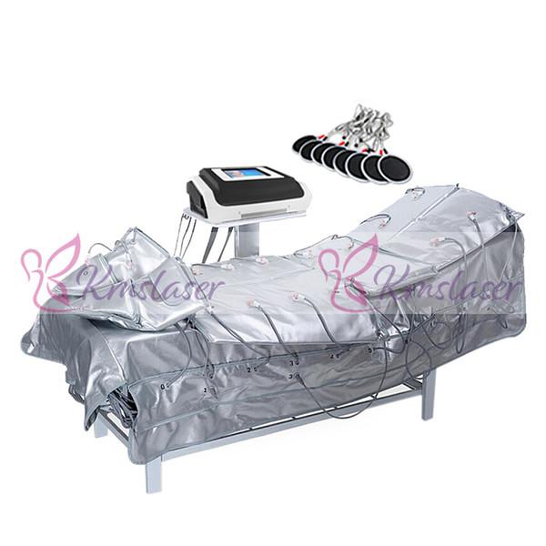 Nuovo 3 in 1 pressoterapia infrarossa lontano EMS elettrico stimolazione muscolare sauna pressione d'aria pressoterapia linfodrenaggio corpo che dimagrisce macchina