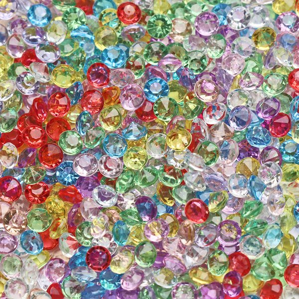1000PCS/Bag 4.5mm Acrylic Crystals Confetti Wedding Table Scatters Decoration Centerpiece Event Party Supplies Ornament Decal