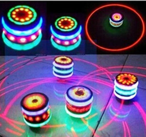 Вспышка гироскопа Имитация дерева гироскоп Вспышка вращающегося гироскопа 7 Цвет музыки Светящиеся игрушки ночной свет малыш ребенок Новинка лампа LED Spinner