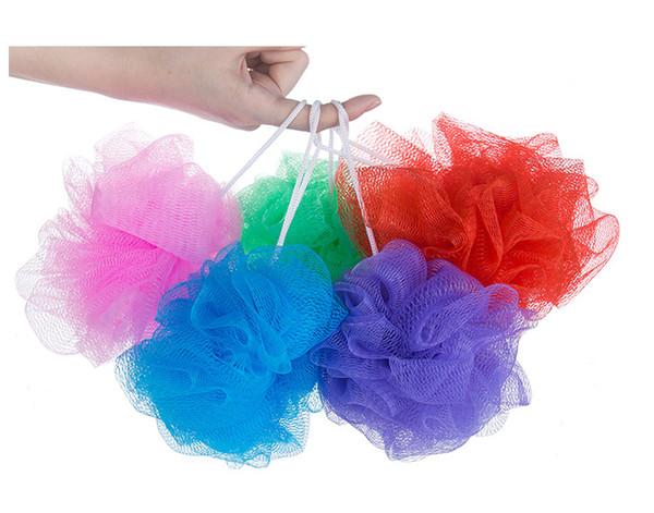 Bola de baño multicolor Bañera de baño Bañera de baño Bola de baño Fregadora de toallas Limpieza del cuerpo Malla Ducha Lavar Esponja