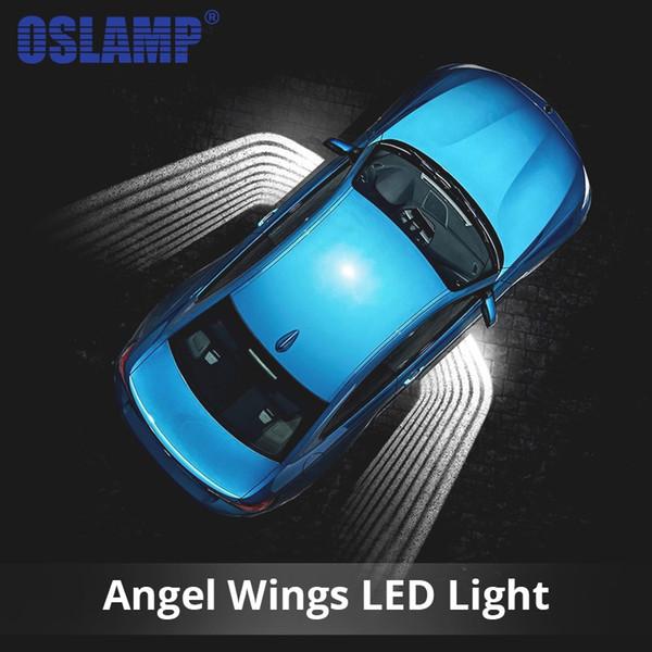Oslamp 2pcs Angel Wings Car Welcome Light Shadow Light Proiettore Car LED Door Light Lampada per Audi BMW Toyota Volkswagen