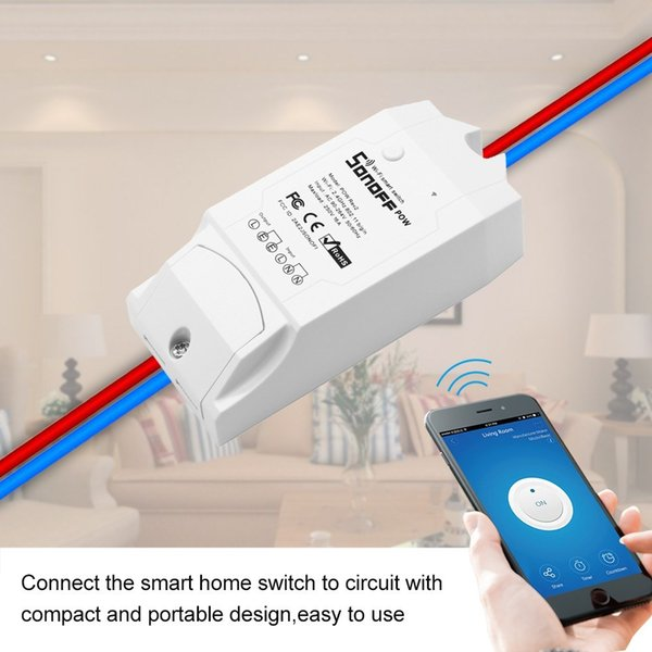 Sonoff Smart Wifi Switch Wireless Remote Control Pow R2 Light Switch Home Controller Work with Alexa Google Android iOS