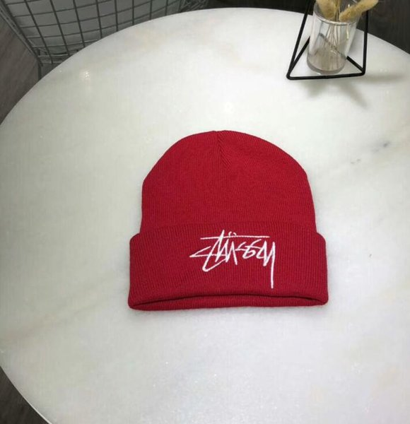 C-2 news colors skateboard embroidered small cap, high-quality hip hop male and female couple wool cap, tide brand super knitted warm hat