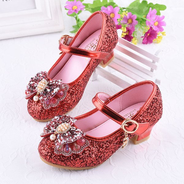 Kids Girl Princess Shoes With Bow Wedding Toddler Chaussures Pour Enfants Soft Baby Infant Girls Party Sandal Shoes