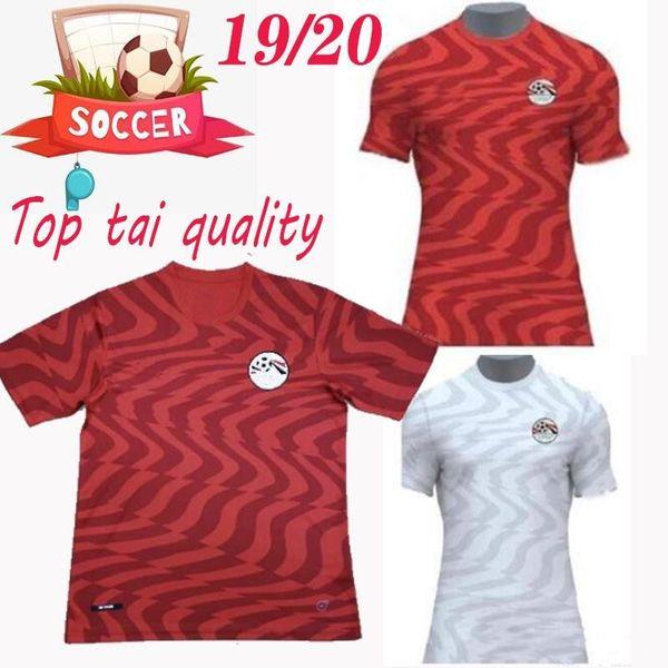 M. SALAH 19 20 Mısır ev kırmızı futbol forması KAHRABA A. HEGAZI RAMAZAN 2019 2020 Mısır uzakta beyaz futbol forması TOP THAI KALİTE