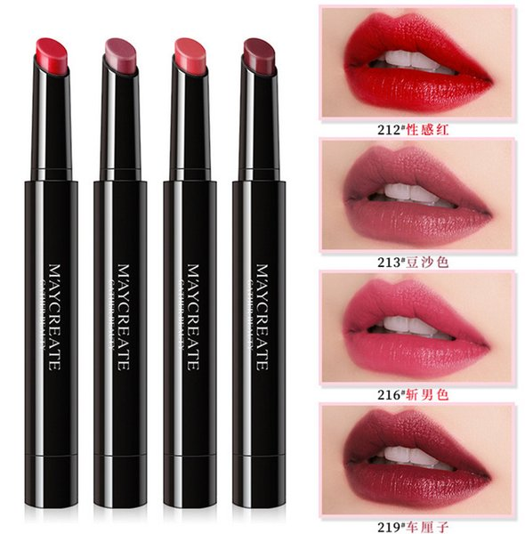 2019 NEW matte Lipstick M Makeup Luster charm Lipsticks Frost Sexy Matte Lipsticks 3.8g 8 colors lipsticks with English Name