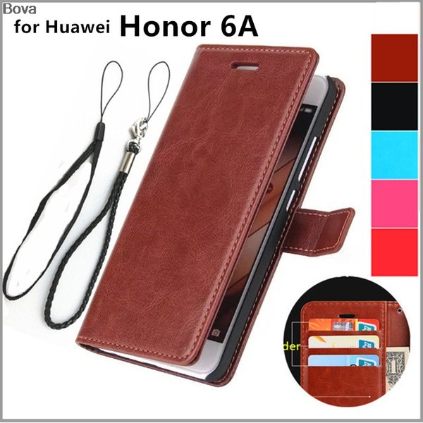 phone cases retro leather Flip Case for Huawei Honor 6A Protective Cover Honor 6A Magnetic Buckle Holster Card Holder Cover Case
