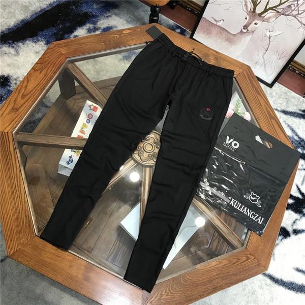 19ss Design de Moda de luxo BBR Calças Compridas Terry Calças de Todos Os Jogo Moda bordado Hip-hop Streetwear Alto Cool Sports Ourdoor Calças