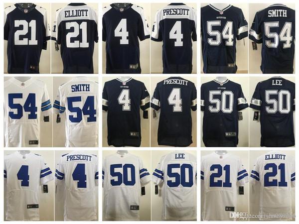 huge selection of 7d77e 3ada1 2019 Men Dallas Cowboys Jersey 21 Ezekiel Elliott 4 Dak Prescott 50 Sean  Lee 70 Zack Martin 54 Jaylon Smith Stitching Elite Jerseys From Jerseysno4,  ...