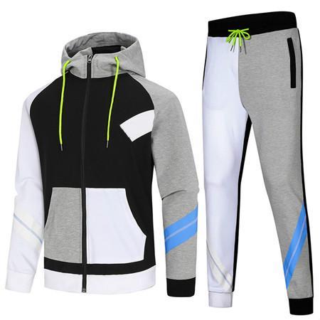 Felpa con cappuccio per uomo Tute Designer Brand casuale della mutanda Set Sport Jacket + corsa della molla di autunno Suits Top Quality Kit Drop Shipping B100288V