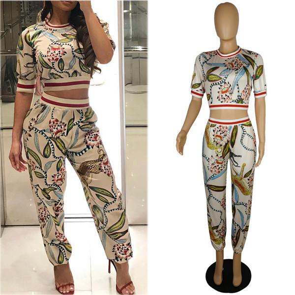 European and American women's explosives Xiuxiankuxiayamaxun is dedicated to elegant printed body pants sexy nightclubs HY0382