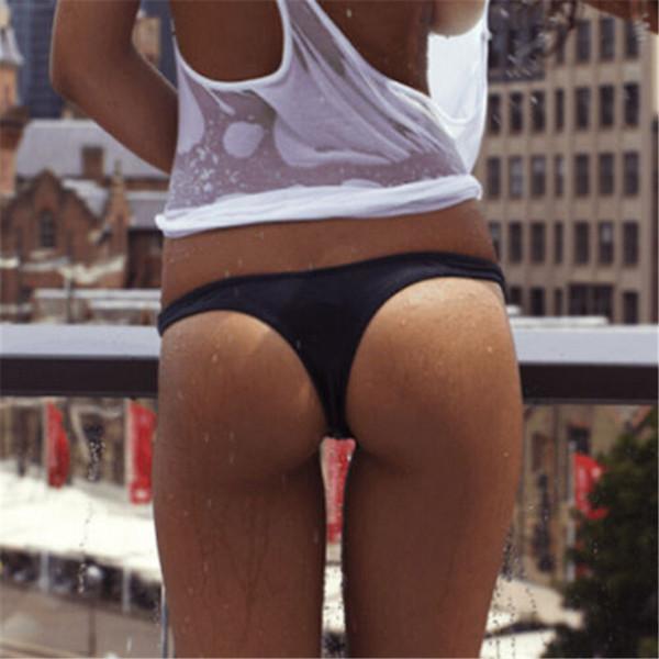 Sexy traje de baño para mujer Lady Bikini brasileño Cheeky Bottom Tanga traje de baño Briefs 2019 costumi da bagno donna más nuevo verano caliente