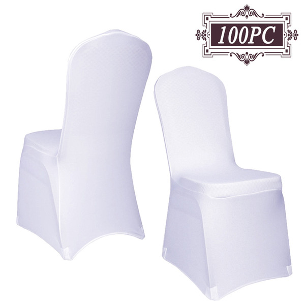 New Arrive Universal White spandex Wedding Party chair covers White spandex lycra chair cover for Wedding Party Banquet 100PC Free Shipping